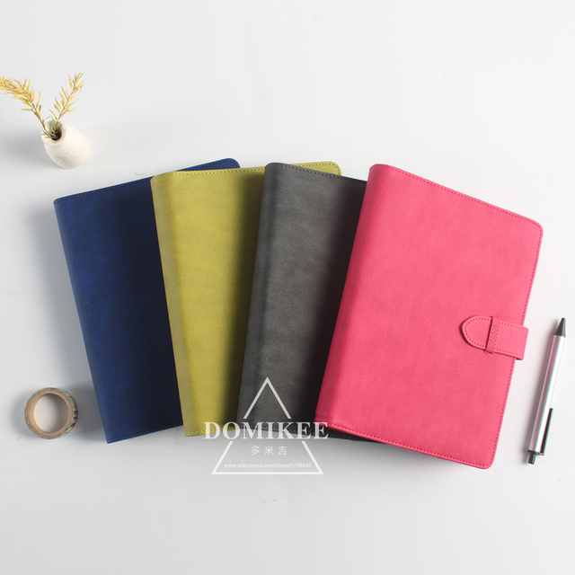 2017 neue klassische büro schule 6 löcher spirale notebook schreibwaren, feine leder bindemittel persönliche agenda planer organizer A5 A6