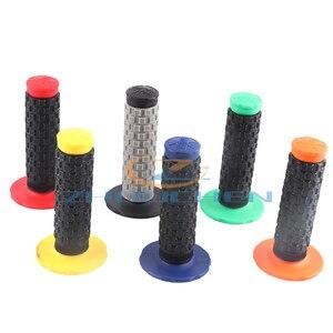 Image 1 - Off road motorrad geändert zwei farbe PRO weichen griff gummi griff gummi abdeckung schalten abdeckung slip gas abdeckung grip abdeckung