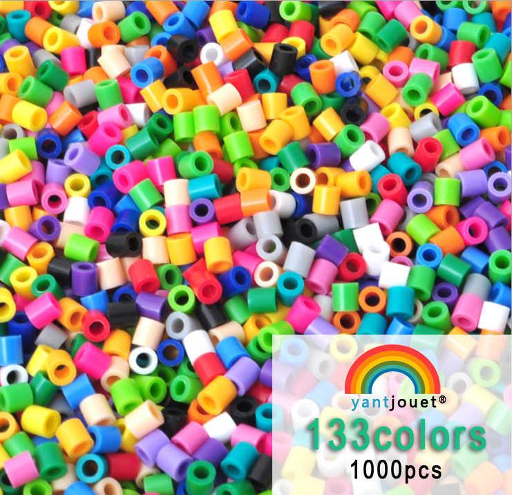 Yantjouet 5mm contas 1000 pçs 133 cor pérola contas de ferro para crianças hama contas diy quebra-cabeças de alta qualidade presente artesanal brinquedo