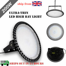 цена на 100W 200W 300W Ultra-thin UFO LED High Bay Lights Waterproof High Lumen Factory Commercial Lighting Industrial Warehouse Lights