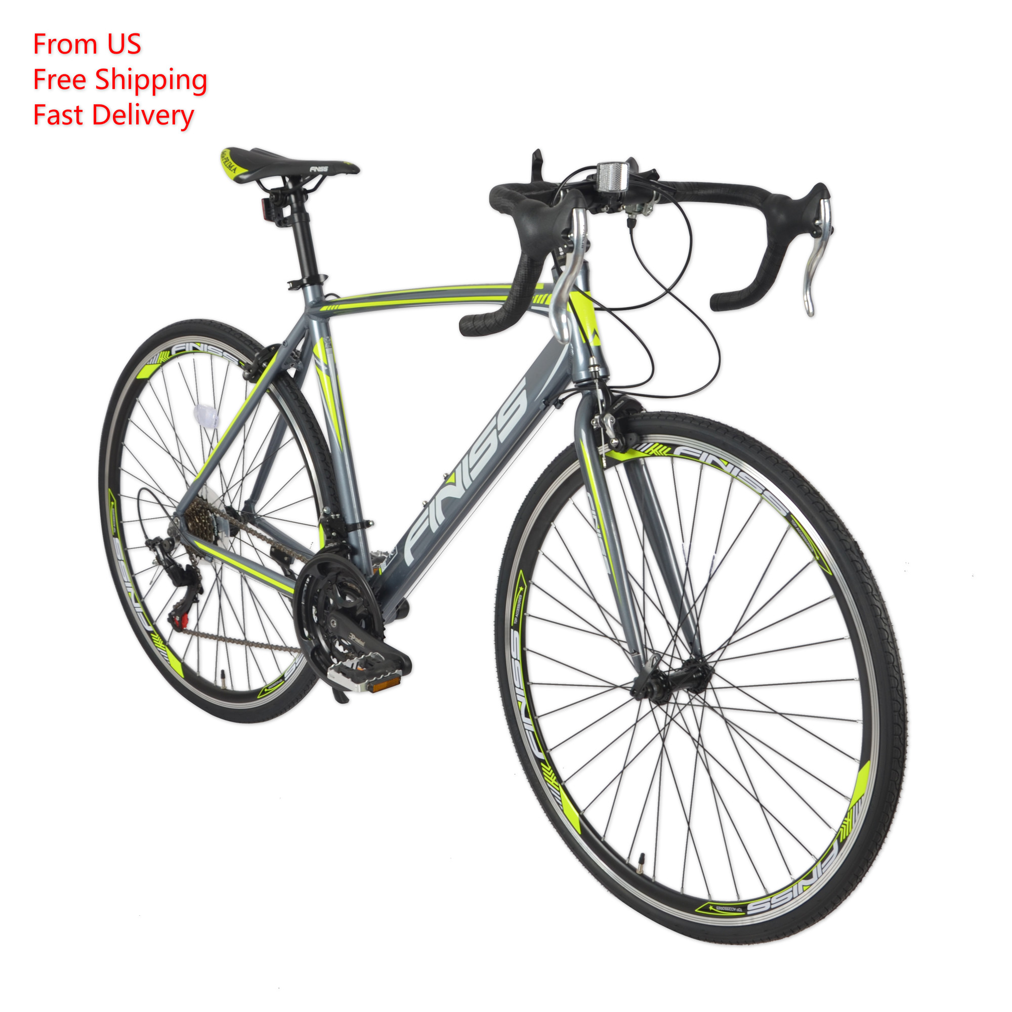 700C-21 Speeds Professional Road Bike Frame Bicycle F/R Brake 7 Speed Index  Professional Chain 330LBS Max Load Cycling Bicycle