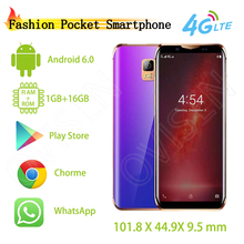 Супер Карманный смартфон Anica i10s Android 6,0 MTK6580 16 Гб ПЗУ Роскошный металлический каркас телефон Лицо ID gps Google Play Store