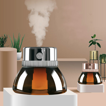 GRTCO Lens Usb Aroma Oil Diffuser 2 Modes Portable Mini Air Humidifier with Led Light Lamp for Car Office 200ml mist steamer tomnew 3 in 1 mini cool mist humidifier 200ml auto shut off portable air diffuser with usb fan and led light for home office car