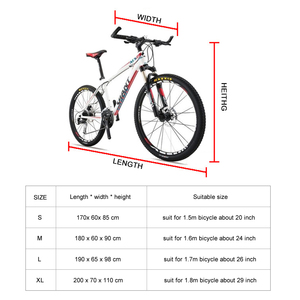 Image 5 - Waterproof Bike Rain Dust Cover Bicycle Cover UV Protective For Bike Bicycle Utility Cycling Outdoor Rain Cover 4 Size S/M/L/XL