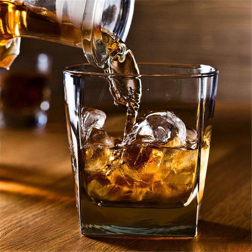 6x Whiskey Bourbon Scotch Clear Drinking Tumbler Shot Glasses Gift Bar Set