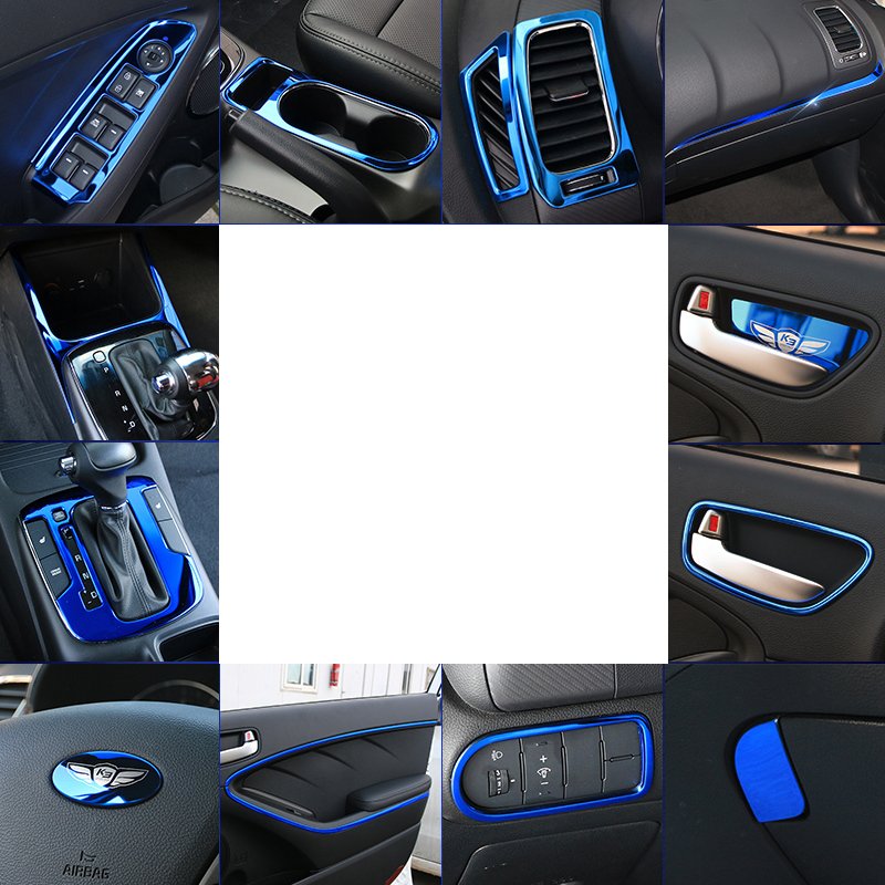 Lsrtw2017 Stainless Steel Car Gear Panel Inner <font><b>Door</b></font> Panel <font><b>Handle</b></font> Frame for <font><b>Kia</b></font> K3 <font><b>Kia</b></font> <font><b>Cerato</b></font> 2012-2018 Interior Accessories image