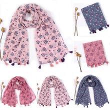 Модные женские шарфы, женский шарф, зимние теплые шали, шарфы, женские шарфы с принтом совы, шарфы с кисточками, вязаный шарф# x7