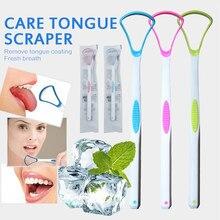 1pc língua limpador escova de limpeza oral escova de dentes escova de limpeza língua raspador plástico tounge oral boca higiene cuidados