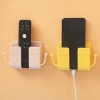 Auriculares ganchos soporte organizador montado en la pared caja de almacenamiento remoto base con tomas de control enchufe de teléfono móvil para ipad soporte de carga