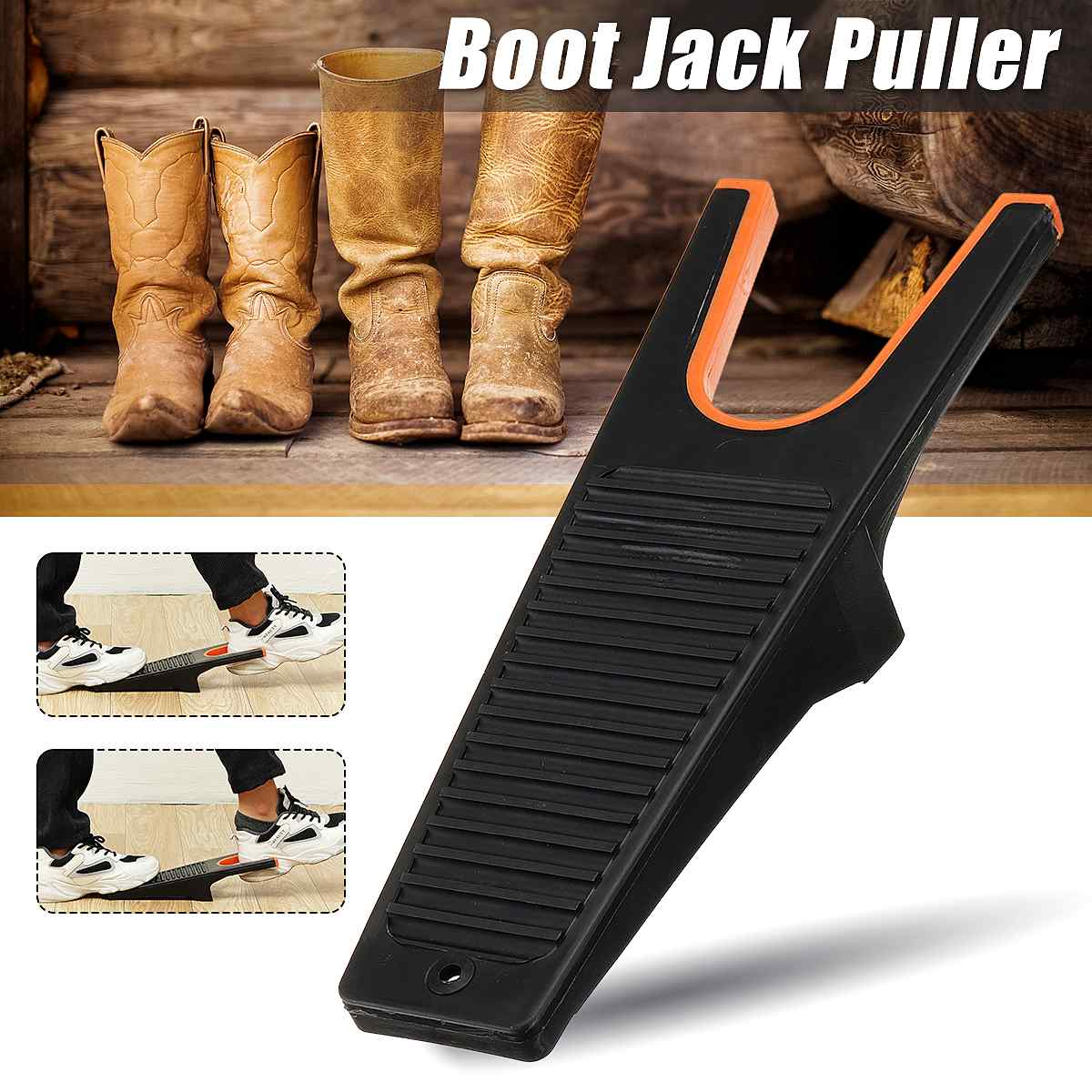 Shoe Horn Boot Puller Shoe Foot Jack Scraper Remover Pull Shoes Lifter Accessories Durable Hands Free Shoehorn Wearing Tool