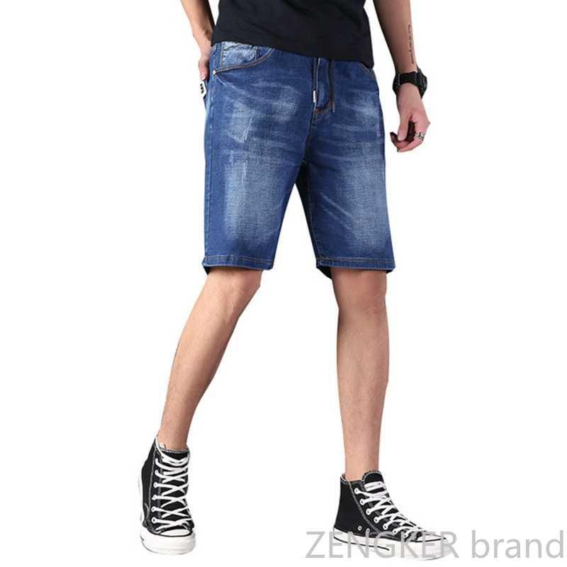 גדול במיוחד גודל גברים רחב מימדים גברים של אלסטי מותניים הברך אורך קיץ רופפים מכנסיים קצרים בתוספת גודל 9XL 8XL 7XL 6XL