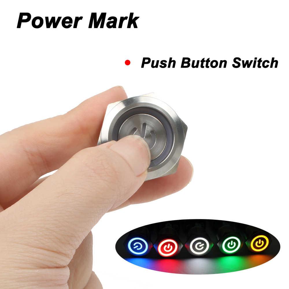 22mm marque d'alimentation en laiton bouton poussoir interrupteur étanche avec éclairage bouton de verrouillage 6pin terminal verrouillage 22HXDY. S. K6