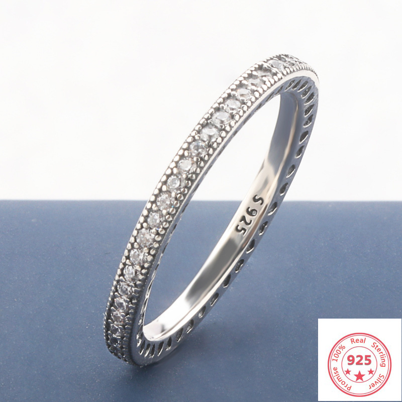 Big Promotion!! Solid S925 Silver FL Diamond Jewelry Ring for Women 100% 925 Sterling Silver Bizuteria Topaz Gemstone Ring Box