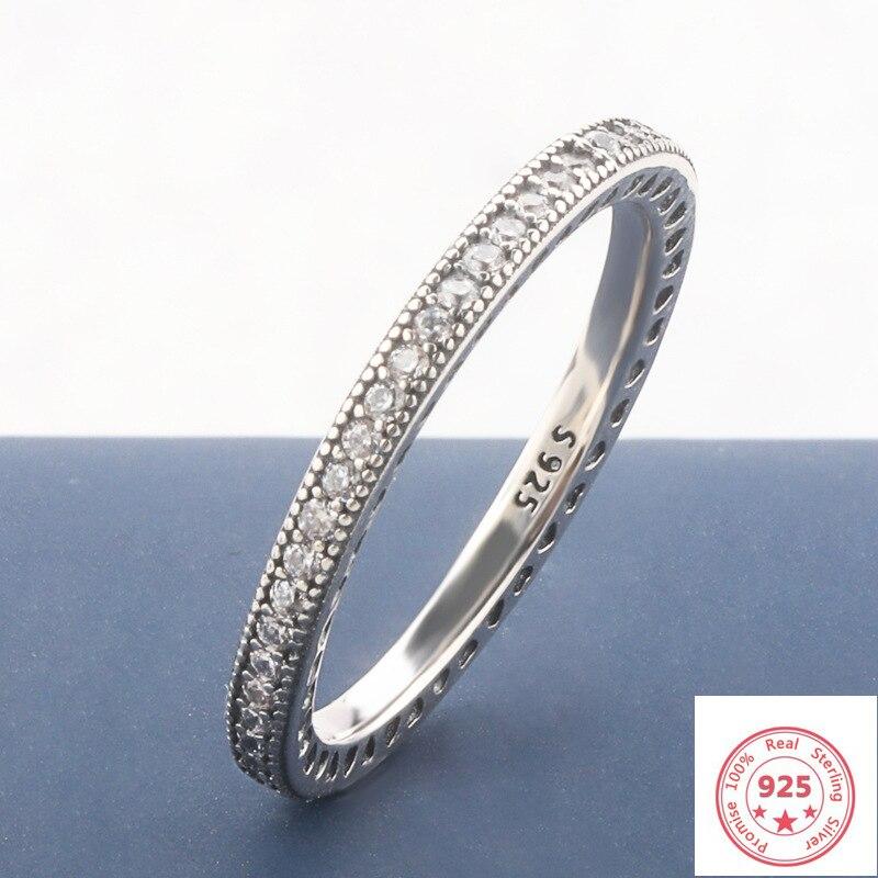 Big Promotion!! Solid S925 Sliver FL Diamond Jewelry Ring For Women 100% 925 Sterling Silver Bizuteria Topaz Gemstone Ring Box
