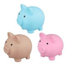 Bonito mealheiro plástico mealheiro caixas de dinheiro moedas caixa de armazenamento brinquedos dos desenhos animados porco em forma de caixa de poupança de dinheiro presentes encantadores