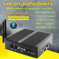 Eglobal Fanless Mini PC With CPU 3160 J1900 Quad Core Windows 7 10 Linux Dual Nics Pfsense Router Firewall Server AES-NI WIFI