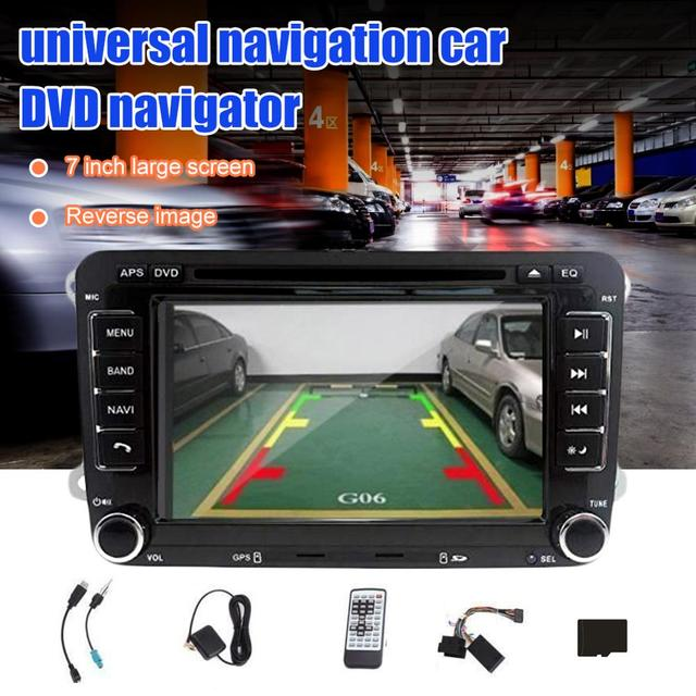 Letouch 7 Polegada 2 Rádio Do Carro Do Bluetooth Estéreo Din HD GPS Navigation Stereo Suporte DVD-CD-Radio-cartão SD-USB + Câmera De Segurança