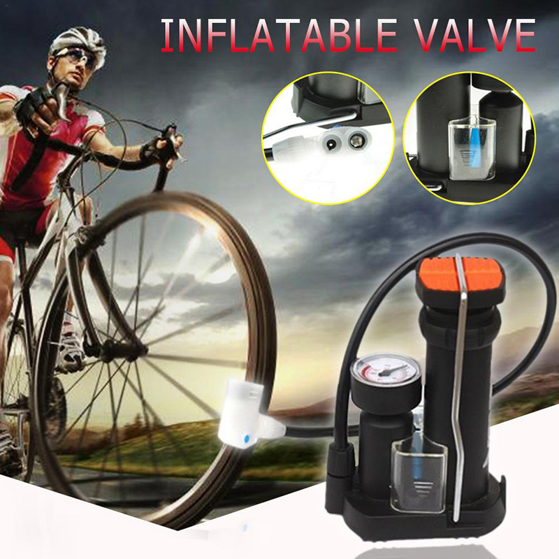 Bicycle Pump Portable Ultra-light High Pressure Foot Cycling Inflator MTB Bike