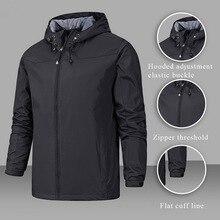 Зимняя куртка мужская водонепроницаемая куртка с капюшоном на молнии ветрозащитная теплая Однотонная легкая модная мужская куртка Верхняя спортивная одежда