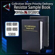 4250PCS 8500PCS 8850PCS 0201 0402 0603 0805 1206 Resistor Sample Book ibuw 5% SMD Assorted Kit 10K 100K 1K 1R 100R 220R