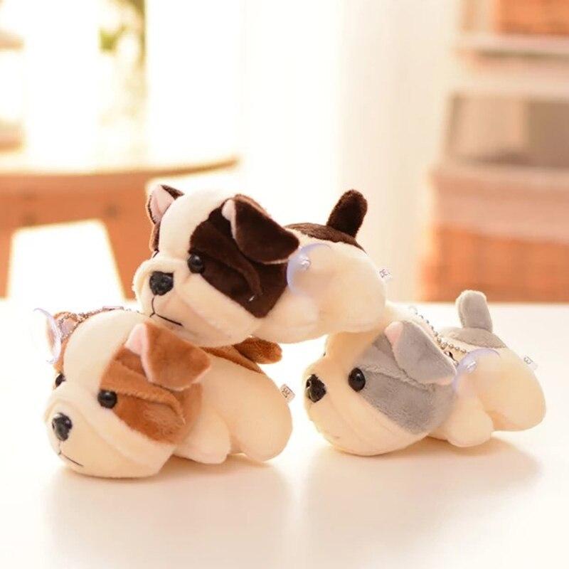 12CM Shar Pei Dog Animal Dolls Baby Plush Toys High Quality PP Cotton Children Pocket Pendant Plush Toys Send Kids Gift