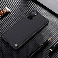 NILLKIN-funda con textura de fibra de nailon para Samsung Galaxy S20 FE 5G, carcasa trasera antideslizante duradera para Samsung S20 Fan Edition