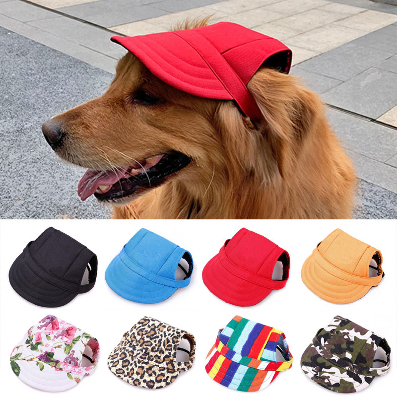 Pet Hat with Ear Holes Adjustable Baseball Cap for Large Medium Small Dogs Summer Dog Cap Sun Hat Outdoor Hiking Pet Products