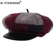 Buttermere Шерстяная кепка newsboy женская зимняя шапка британская