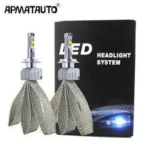 Image 1 - 2x רכב LED H7 9006 H16(JP) נורות 90W 9000LM עבור XHP50 שבבי LED פנס לבן מנורות led H4 9012 H11 HB3 HB4 H8 9005 ערפל אור
