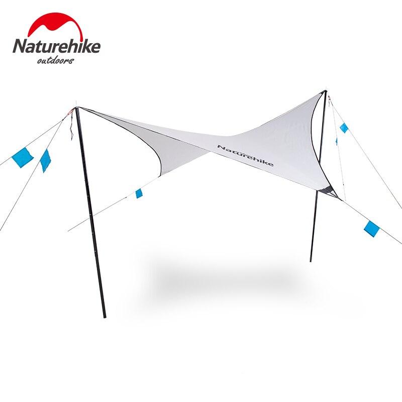Nature randonnée sans toit abri soleil ombre en plein air diamant forme auvents Portable ultraléger 15D Oxford bâche randonnée Camping voyage