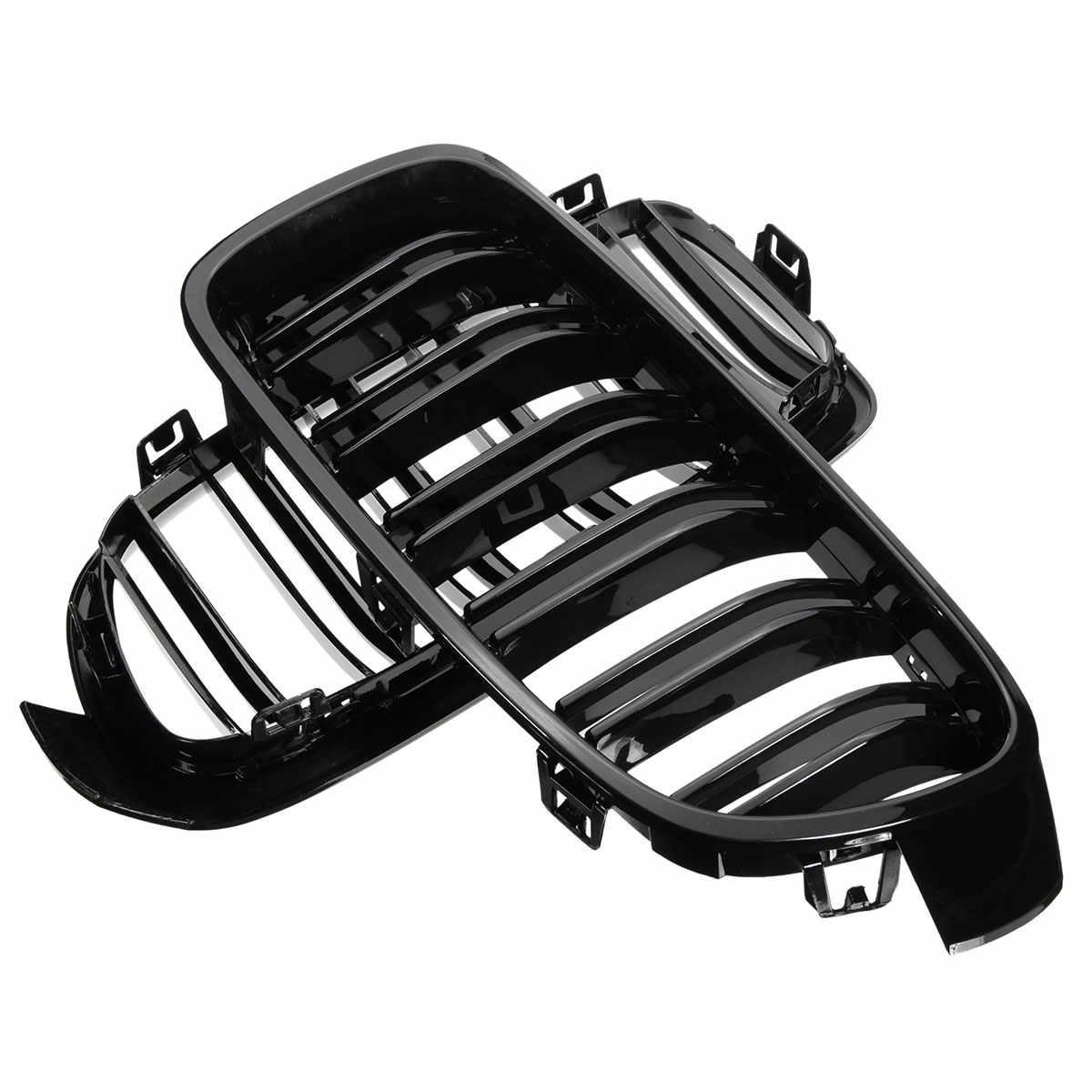Para przednia kratka w kształcie nerki grille czarny błyszczący dla BMW F30 F31 F35 320i 328i 335i 2012 2013 2014 2015 2016 2017 samochodów Racing grille