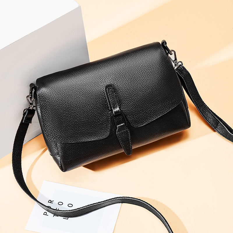 Luxe femmes devrait sac femme noir petits sacs à main femme 2019 mode Crossbody sacs pour femmes dames sacs à main en cuir véritable - 2