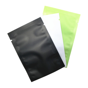 Image 1 - 100Pcs Mylar Foil Heat Sealing Flat Sample Bag Tear Notch Vacuum Seal Pack Pouch Smell Proof Aluminum Food Saver Bags for Coffee