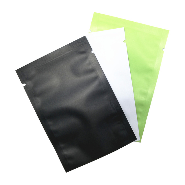 100Pcs Mylar Foil Heat Sealing Flat Sample Bag Tear Notch Vacuum Seal Pack Pouch Smell Proof Aluminum Food Saver Bags for Coffee