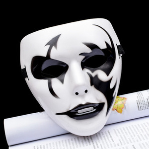 Image 3 - 1Pc Cool Plastic Kamen Rider Mask Ghost Dance Masks Hip Hop Mask White Night Lights for Home Bar Nightclub Party Props Supplies