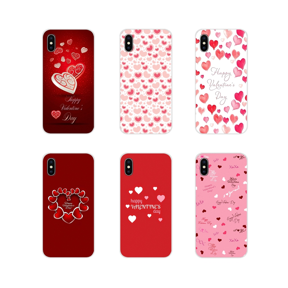 For Apple iPhone X XR XS 11Pro MAX 4S 5S 5C SE 6S 7 8 Plus ipod touch 5 6 Accessories Phone Shell Covers Happe Valentines Day