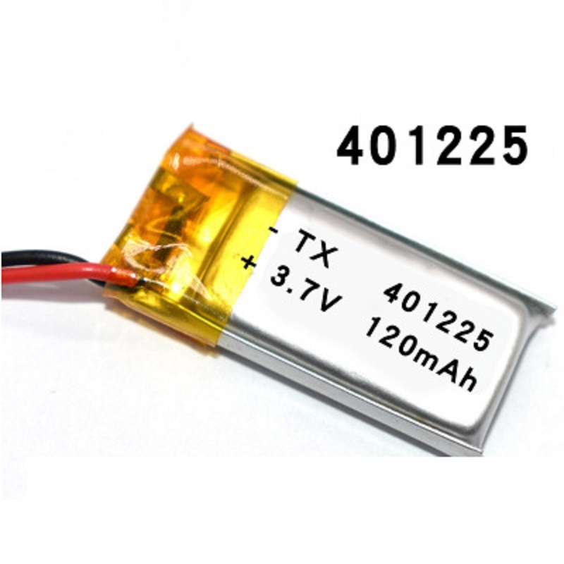 3.7V 120mAh 401225 <font><b>401025</b></font> 401525 Lithium Polymer LiPo Rechargeable Battery li ion For Mp3 PAD image