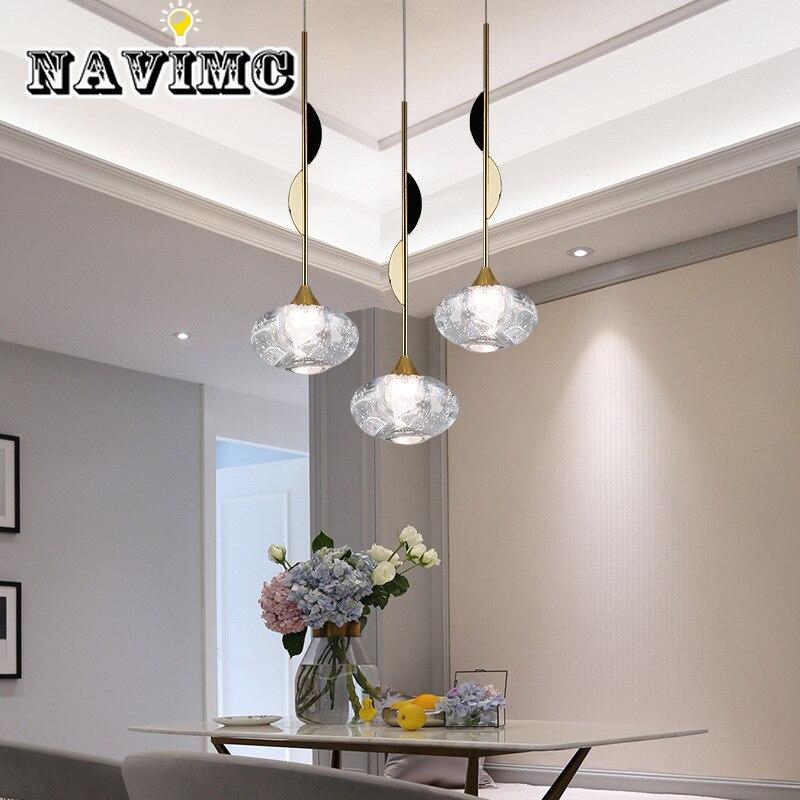 Moderne Glazen Bal Hanglampen For a Eetkamer Indoor Home Keuken Armaturen Opknoping Lamp Bar Restaurant Decor Armatuur Eikel