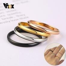 Женское кольцо из нержавеющей стали 2 мм