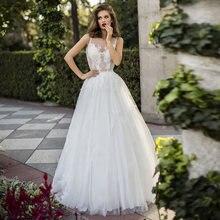 Очаровательное платье трапециевидной формы Свадебные платья