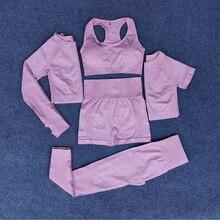 Комплект спортивной одежды для женщин 5 шт Леггинсы йоги и бега