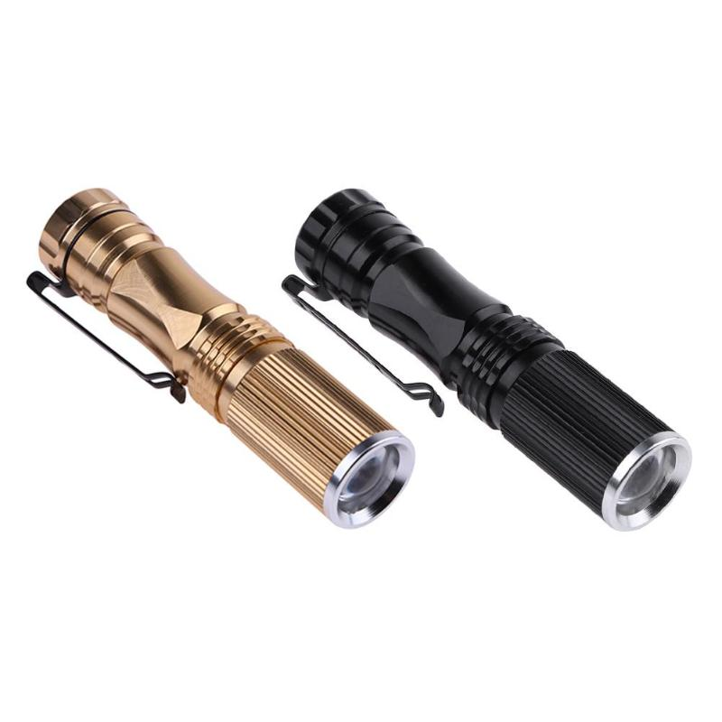 Mini Pocket Battery Powered Telescopic Zoomable LED Flashlight Torch
