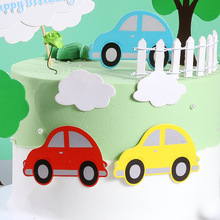 1set/bag Small Car Happy Birthday Cake Topper Kids Birthday Party Cartoon Cupcake Toppers Baby Shower Cake Decorations Suppliies stitch animal birthday cake topper kids toys boys baby children birthday party small gifts decoration party cupcake toppers