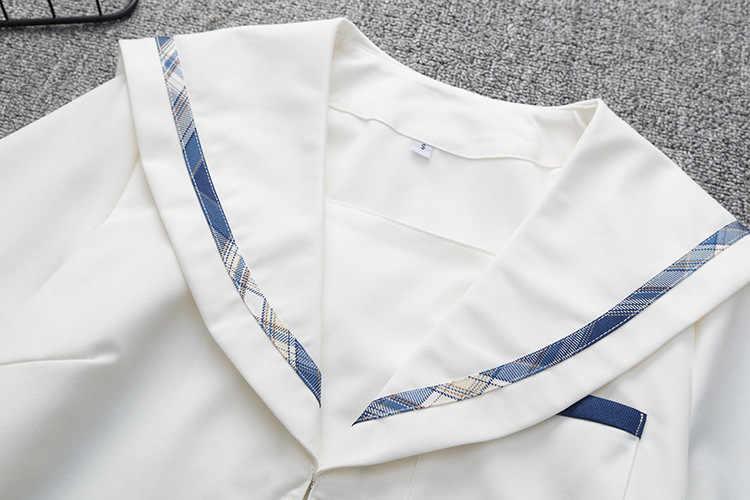 Schule Kleider Navy Blau Plaid Gefaltete Rock Hohe Qualität JK Uniform Rock Studenten Mädchen Cosplay Anime Sailor Anzug Kurze Röcke