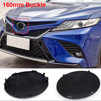 160mm preto azul estilo do carro médio grille fivela emblema modificado atualizar logotipo híbrido para toyota camry highlander izoa rav4 chr