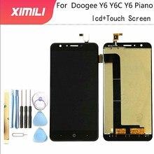5.5 inç DOOGEE Y6 LCD ekran + dokunmatik ekran cam Panel meclisi onarım parçaları + araçları için y6c/Y6 piyano LCD cam Panel
