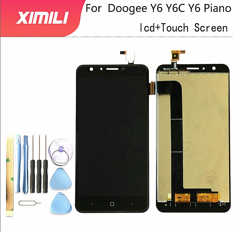 5.5 inch For DOOGEE Y6 LCD Display+Touch Screen Glass Panel Assembly Repair Parts+Tools for y6c/Y6 Piano LCD Glass Panel