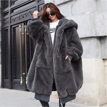 Осень и зима 2020 Новое утолщенное длинное меховое пальто с