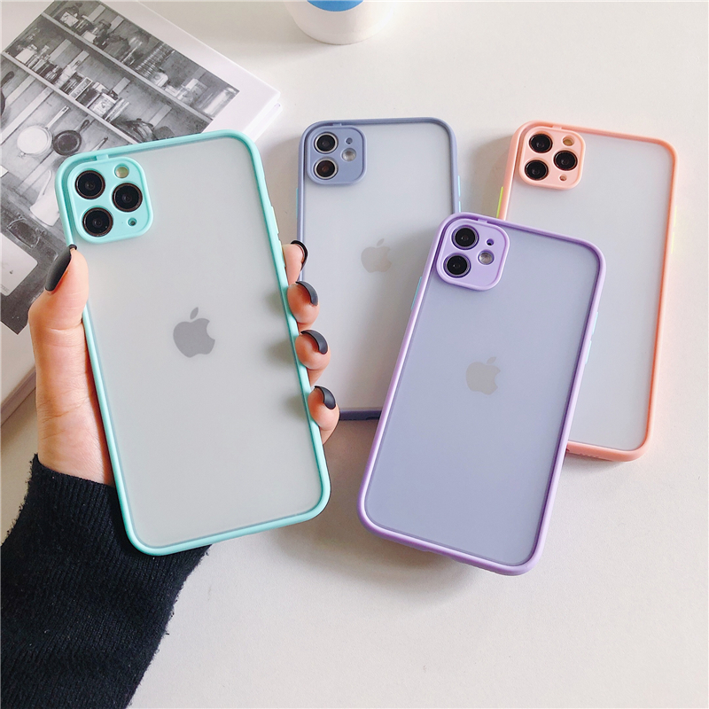 LECAYEE 2020 New iPhone Case Precise Super Anti Knock Phone Protective Cases for iPhone 11 Pro X XR XS Max 7 8 Pus 6s 6 SE (4)