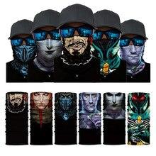 Magic 3D Print Scarf Bandana Neck Gaiter Skull Face Mask for Men Head Sunshade Balaclava Outdoor Fishing
